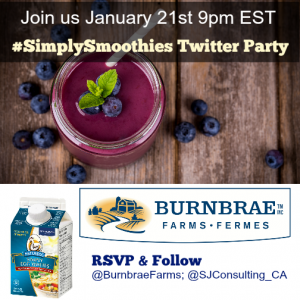 Start the New Year Right #SimplySmoothies Twitter Party