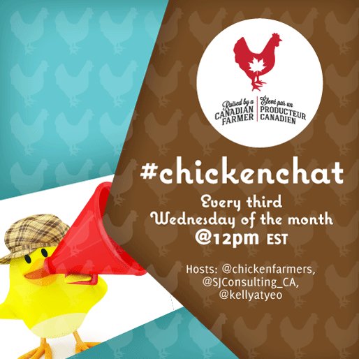 Chicken Chat Twitter chats Schedule for 2018 // sjconsulting.ca